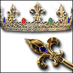 Medieval Crowns and Scepters