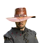 Leather Witch Hunter Hat in Brown