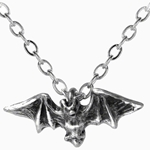 Kiss of the Night Vampire Bat Necklace Pewter Alchemy P598