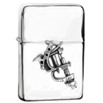 Tattoo Gun Lighter Pewter Alchemy ULAZ3