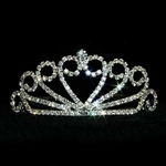 Crystal Heart Spread Tiara