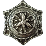 Renaissance Pewter Star Button 107.0497