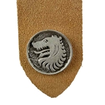Pewter Medieval Wolf Leather Bookmark 103.1410