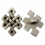 Squared Celtic Knot Pewter Button 107.1025