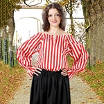 Anne Bonney Striped Blouse