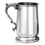 Heavy Gauge Jacobean One Pint Pewter Tankard