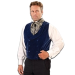 Sapphire Double Breasted Vest - Steampunk Vest 101624