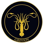 House Greyjoy Embroidered Patch  286-21-664