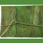 Green Scroll Leather Sketch Book 45-BBBCSCRG