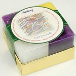 Set of 4 Healing Square Votive Candle 45-CVGHEA