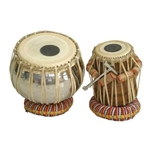 Tabla Set, Stainless Steel Bayan 5.25 Inch Dayan