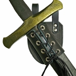Angled LARP Sword - Dagger Frog in Leather 48-2255-LA