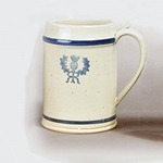 White Colonial Thistle Mug,White Stoneware Drinking Mug