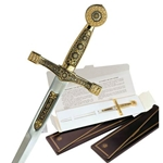Damascene Excalibur Letter Opener by Marto