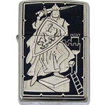 Damascene Zippo Lighter Knight by Marto 56-M840-002