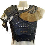 Barbarian Leather Breastplate with Shoulders - Brown 61-2013-BR
