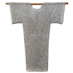 Chainmail Hauberk Shirt Riveted Flat Steel 62-9328