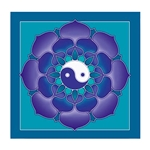 Ying Yang Lotus Wall Hanging 63-8