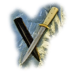 Fayans Medieval Bone Handle Dagger