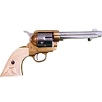 Old West M1873 Fast Draw Frontier Two tone Revolver Non Firing FD1108L
