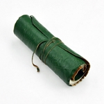 Rolled Leather Journal - Blank Book - 7 X 4.5 Inches - Green