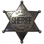 Grand County Sheriff Badge - Nickel,Sheriff Badge