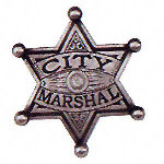 City Marshall Western Badge OH3028