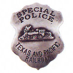 Special Police Western Badge Railroad