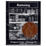 George VI Rationing Bronze Penny - Real British WWII Coin WW2CP-5