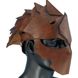 Leather Assassins Helmet Brown