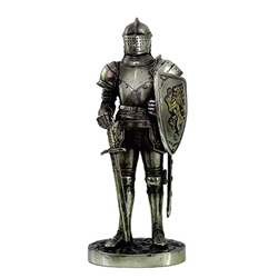 Miniature Medieval Knight Statue