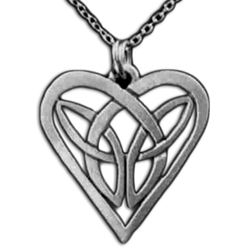 Celtic Knot Heart Necklace Pendant 126.1004