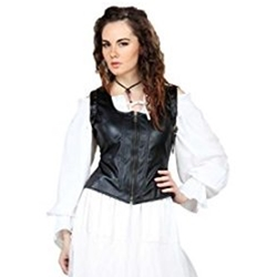 Faux Leather Bodice