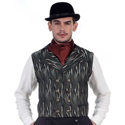 Double Breasted Jute Vest