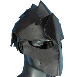 Leather Assassins Helmet Black