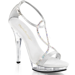 Ankle Strap Bridal Sandal with Rhinestones
