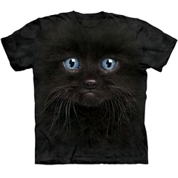 Black Kitten Face Adult 3X-Large T-Shirt 43-1035030