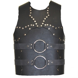 Studded and Ringed Leather Breastplate 65-100028