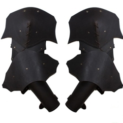 Plain Leather Articulated Arm Armor 65-100048