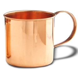 Solid Copper Soup Mug