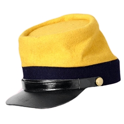 Civil War Kepi - 2nd Pattern - Red, Yellow or Blue