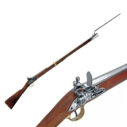 British Brown Bess Musket W/ Bayonet Colonial Period - Non-Firing